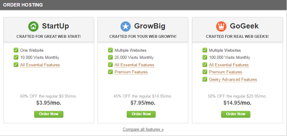 Siteground hosting packages by CeeLeeReed.com