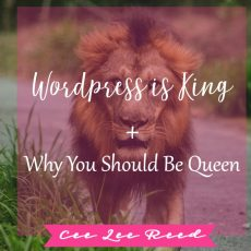 WordPress is King + You should be its Queen!  You want to be Queen right?