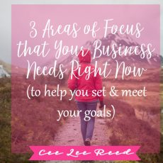 3 Areas of Focus that Your Business Needs Right Now (to help you set and meet your goals)
