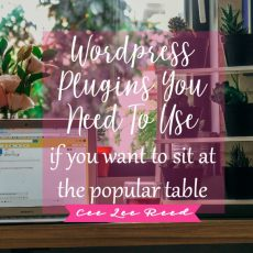 WordPress Plugins you'll need to use (if you want to sit at the popular table)!