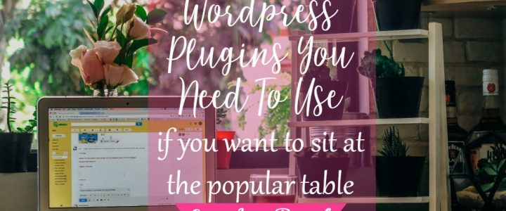 Wordpress plugins you need to use by CeeLeeReed.com