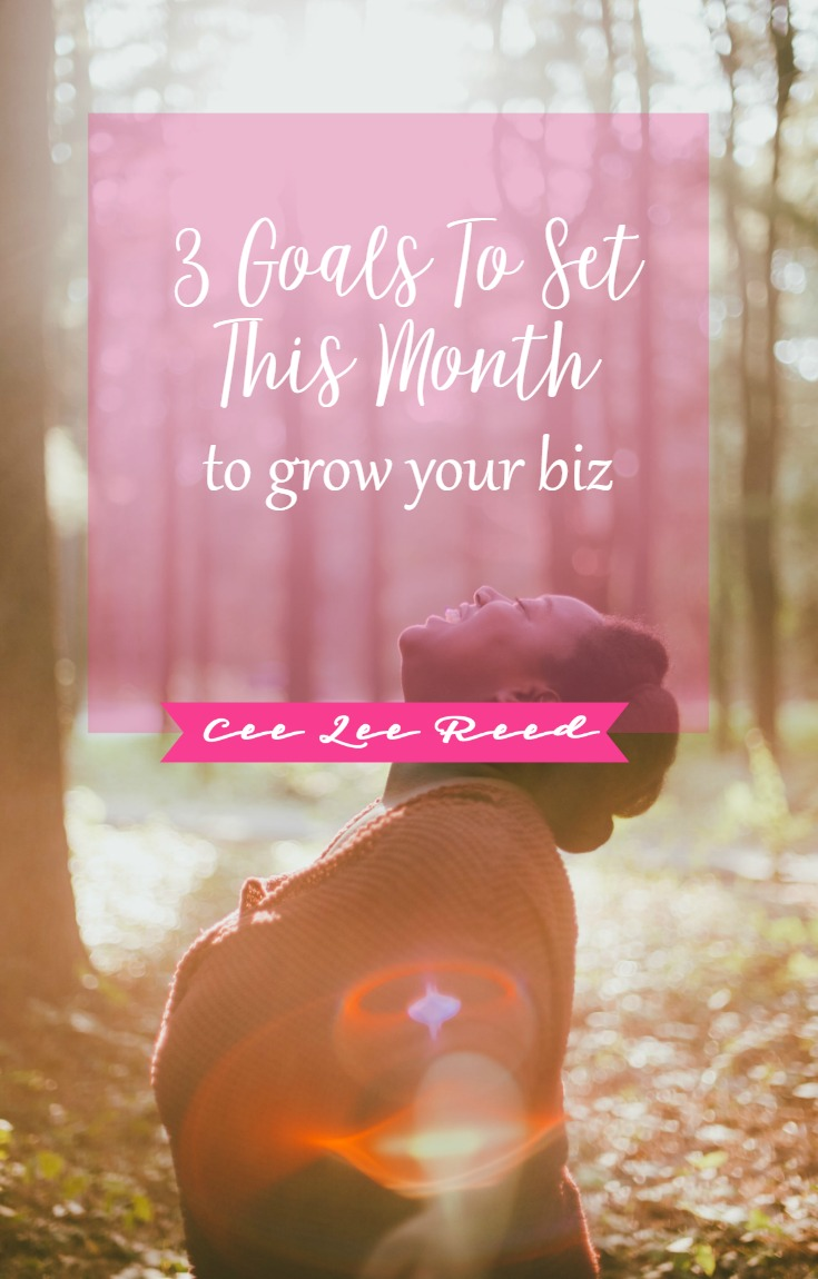 3 Goals to set this month that will grow your business by CeeLeeReed.com.