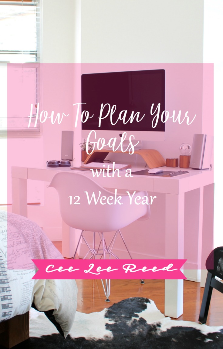 How to plan your goals with a 12 Week Year and CeeLeeReed.com.
