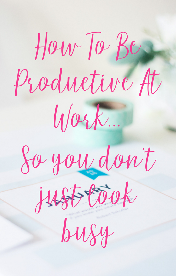How To Be Productive At Work with CeeLeeReed.com